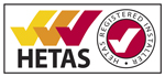 HETAS registered installer logo image